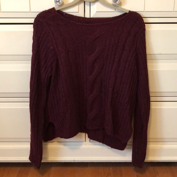 35% off Forever 21 Sweaters - Forever 21 ❤ Maroon Cropped ...